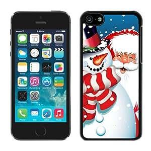 MMZ DIY PHONE CASEPopular Design iphone 5c TPU Case Santa Claus iphone 5c Case 12 Black