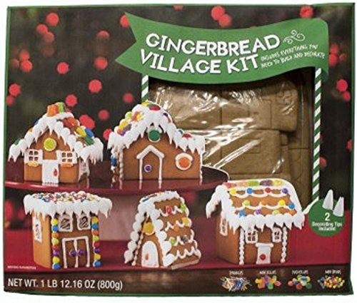Gingerbread Mini Village House Kit by Create a Treat, 5 Buildings