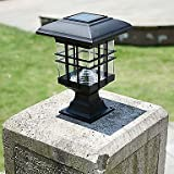 Kairi & Co. Solar Panel Lamp Post for Column Fence Wall Lamp Headlamp Outdoor Garden Lights Decks and More
