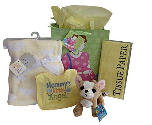baby-gift-set-webkinz-plush-chihuahua-bib-plush-blanket-gift-bag-tissue-paper