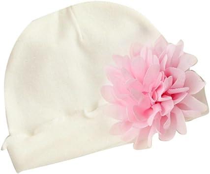 Gorra de bebé, Sombrero Bebé Recién nacido bebé niñas niño pequeño flor sombrero gorro de algodón suave Sombrero de playa Gorro de sol verano (Blanco): Amazon.es: Belleza