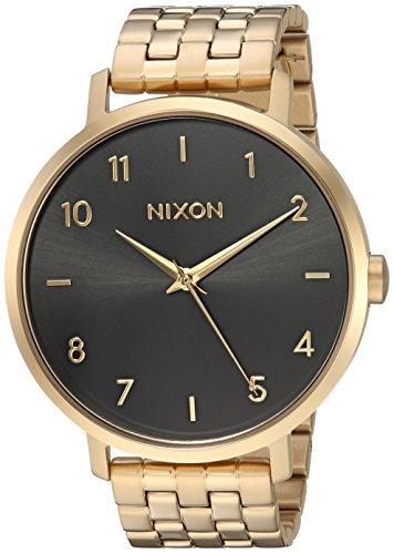Nixon Women's 'Arrow' Quartz Stainless Steel Casual Watch, Color:Black (Model: A10902042)