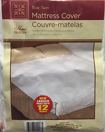 1 Twin Size Waterproof Mattress Cover Hypoallergenic