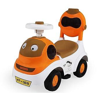 Coche de Juguete de Cuatro Ruedas para niños con Auto Giratorio para niños con Auto de Giro Musical (Color : A): Amazon.es: Hogar