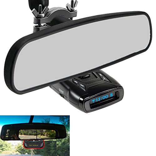 AccessoryBasics Car Rearview Mirror Radar Detector Mount Holder for All Whistler Radar Detector (CR65 CR 70 CR75 CR80 CR85 CR90 CR93 Pro DE17xx All XTR) Require min.of 1''inch stem space to setup by ChargerCity (Image #3)