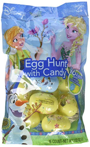 Disney Frozen Princess Easter Eggs with Candy for Egg Hunts, 16 Count -