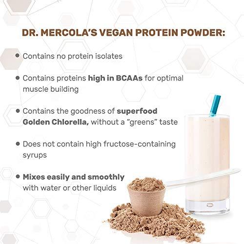 Dr. Mercola Vegan Protein Chocolate - Perfect Blend Of Pea, Hemp, Chia, Chlorella & Potato Proteins - Gluten-Free - Naturally Flavored - 1 lb 6.5 oz (750g) by Dr. Mercola (Image #2)