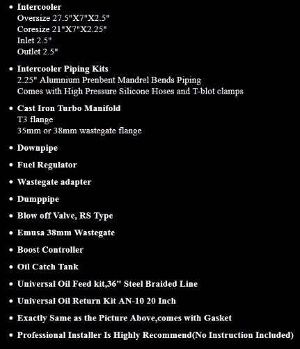 Turbo Kit B Serie 88 - 91; HONDA CRX/Civic 94 - 01 Acura Integra B18 precisión, 5511, Turbo de batería: Amazon.es: Coche y moto