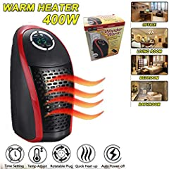 Product Details: Weight: 500g Package Weight: 600g Dimension: 7*4*4in Package Dimension: 7.8*6.3*4.1inProduct Description: 1.Plug in the socket, open the switch on the side of the machine, you can warm the wind, that is, open and warm. 2.The ...