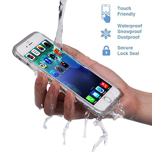 Save4you Waterproof Phone Case Shockproof Dustproof Full Sealed Protection Cover Super Thin Case for Apple iPhone (6/6S(4.7 inch) Grey)