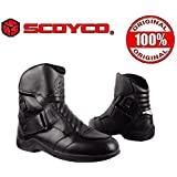 Scoyco with Hologram Sticker Bike Riding Ankle Shoes Size-9 (Black, 279086) MBT011W