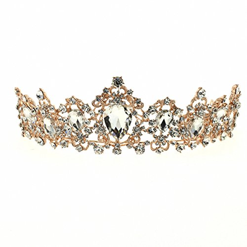 70ILY Royal Women Tiara Medieval Ballot style Bridal Wedding Hair Accessories Silver Hair ()