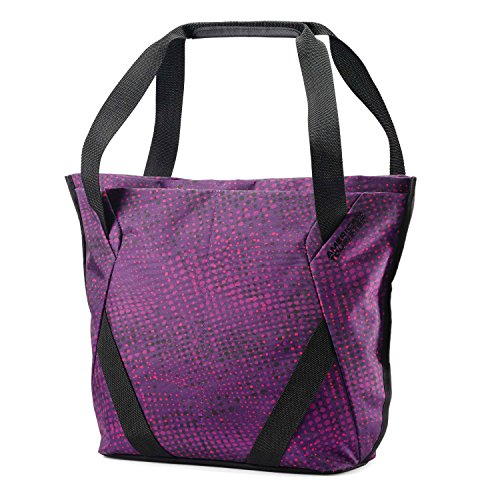(American Tourister Shopper Tote Sling, Purple Dots, One Size)
