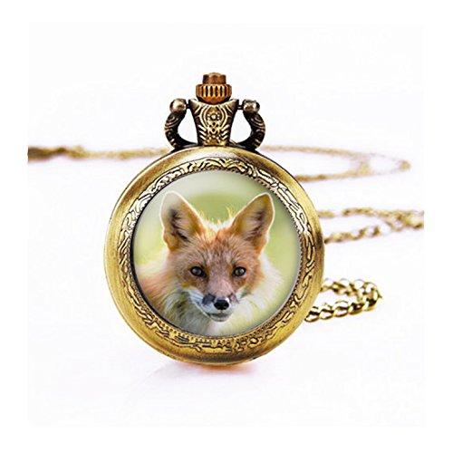 Wild Pocket Watch (Skyboby Fox pocket watch Necklace Wildlife Photography pocket watch Pendant , Red Fox Portrait pocket watch)