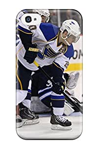 ChristopherMashanHenderson Scratch-free Phone Case For Iphone 4/4s- Retail Packaging - St-louis-blues Hockey Nhl Louis Blues (93)