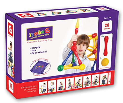 lding Toy - 20 Pieces (Magneatos Educational Toy)