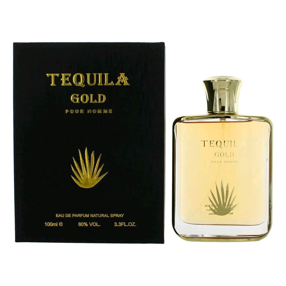 TEQUILA PARFUMS Tequila Gold Pour Homme By Tequila Parfums 3.3 Oz Eau De Parfum Spray For Men 3.3 oz