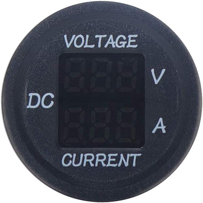 Roydoa Universal DC 9 V Bis 48 V 10A Digital Voltmeter Amperemeter Spannung Strom Meter Messung Led-anzeige F/ür 12 V 24 V 36 V Elektrische Fahrrad Motorrad Auto LKW