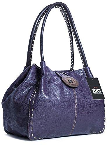 One bg451 Shop Purple Handbag Big Deep Hombro Al Sintético Bolso Para De Mujer 7zwpZqw
