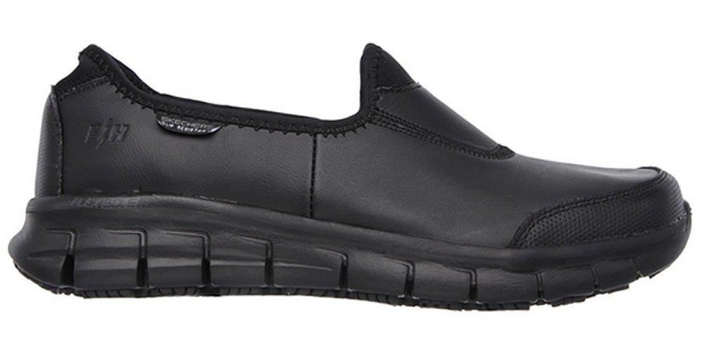 Skechers Sure Track Erath Womens Slip Resistant Work Shoes 5 D (M) UK/8 B(M) US Black