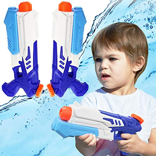 2 Pack Squirt Water Guns for Kids Water Blaster Toys for Summer Swimming Pool Party