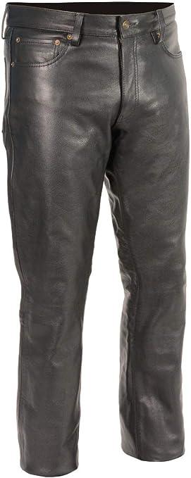 M-BOSS MOTORCYCLE APPAREL-BOS15503-BLACK-Men/'s leather chaps classic biker leather motorcycle chaps.-BLACK-2X-LARGE