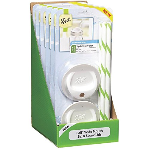 Ball Sip & Straw Lids Wide Mouth Set Of 4,6 Pack