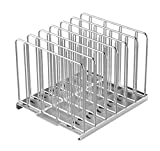 EVERIE 18/8 Stainless Steel Sous Vide Weights Rack with 7 Dividers for Sous Vide Even Heating, Compatible with Rubbermaid, Cambro, Everie 12 Quart Container, No Float