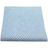 50 Pieces, All-purpose Reusable Cleaning Cloths & Wipes, for Household Cleaning, Kitchen, Car, Windows and More! Blue/white, 22cmx48cm