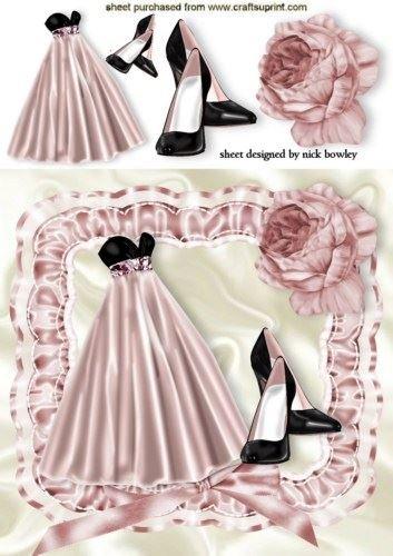 Pink Sera, vestidos y zapatillas de fondo Arricciato a Marco con rosas by Nick Bowley: Amazon.es: Hogar