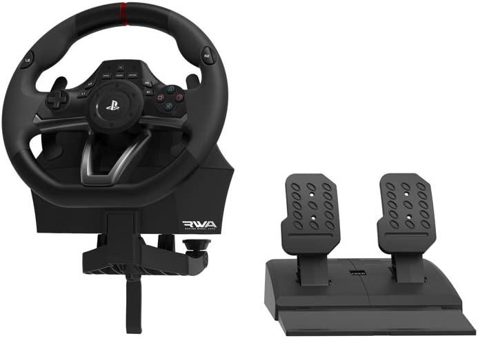 da38b284d79 Amazon.com: HORI Racing Wheel Apex for PlayStation 4/3, and PC: Video Games