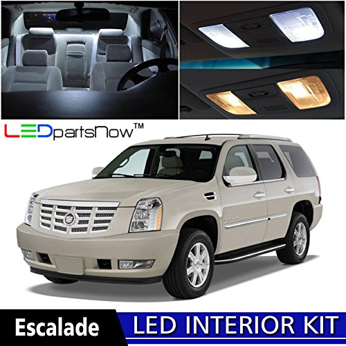 ledpartsnow-cadillac-escalade-2007-2014-xenon-white-premium-led-interior-lights-package-kit-16-piece