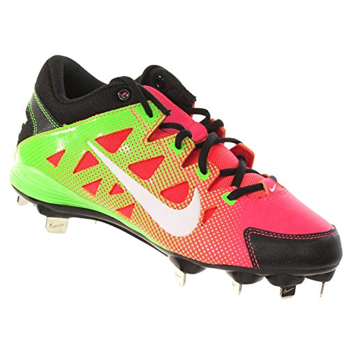 Nike Women's Hyperdiamond Strike Metal Softball Cleat, Atomic Red