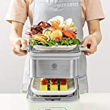 BUYDEEM Stackable Double Tier for Electric Food