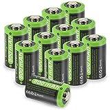 CR2 3V Lithium Battery - Enegitech 800mAh DL-CR2 Photo Battery PTC Protection for Monitor Flashlight Monitor Camera Instax Mini 25 Mini 50 Mini 50S Mini 55 Pivi MP-100, 12 Pack