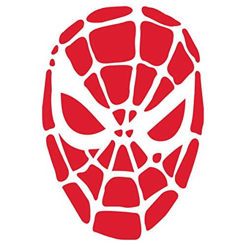 Halloween Spiderman Mask Stencil - (Size 6.5