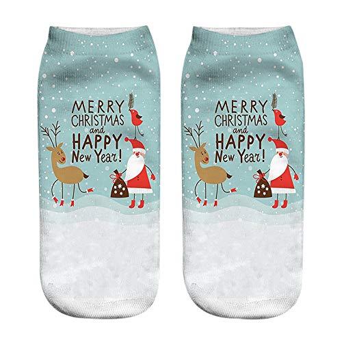 HEHEM Christmas Socks Christmas Breathable Warm Socks Cute Low Cut Ankle...