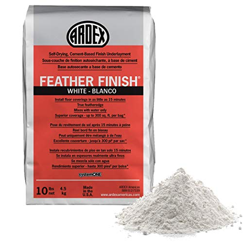 Ardex Feather Finish White/Blanco Self-Drying Cement Based Bag 10 Lbs (1, White)