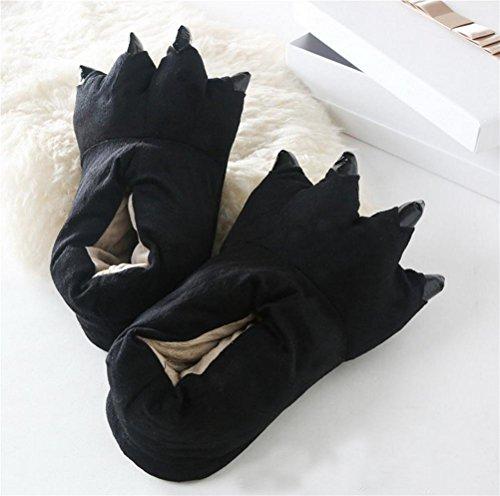 Slip WDGT Hiver 003 Chaussure Pantoufle Peluche Slipper Souple Femme Animal on Figure en RRvgrx