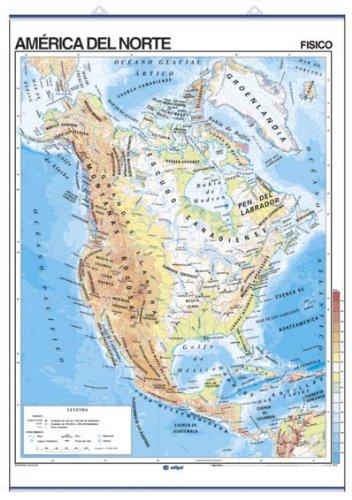 Descargar Libro América Del Norte, Físico / Político: Mapas Murales Edigol Ediciones