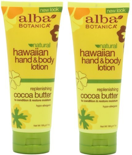 (Alba Botanica Alba botanica hawaiian hand & body lotion, cocoa butter, 7 ounce (pack of 2) )