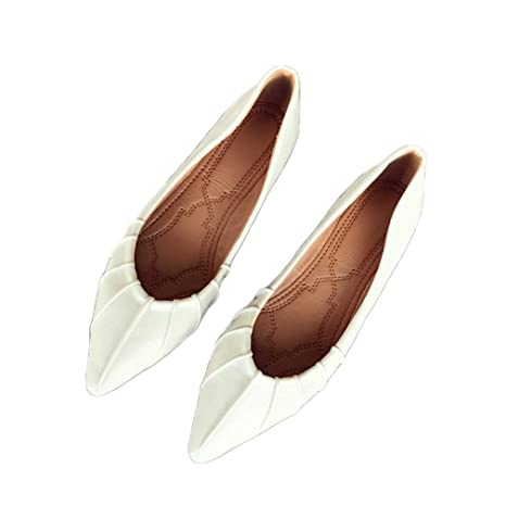 707973e91e7a4 Amazon.com: August Jim Womens Flat Shoes,Classic Pointy Toe Ballet ...