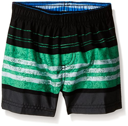 Kanu Surf Baby Boys' Halo Swim Trunk, Black/Green, 18 Months (Halo Suits For Kids)