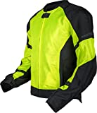 Pilot Motosport Men's Slate Air Mesh Motorcycle Jacket (HI-VIS, Large)