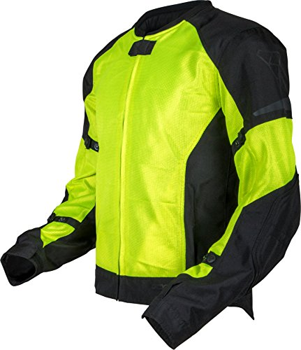 (Pilot Motosport Men's Slate Air Mesh Motorcycle Jacket, HI-VIS, XL (X-Large))