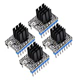 KINGPRINT TMC2208 Stepper Motor Mute with Heat Sinks Driver Stepstick Mute Replacement A4988 Drv8825 for 3D Printer(Pack of 4 PCS)