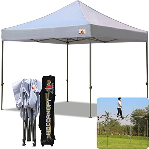 (18+Colors)ABCCANOPY Commercial 10X10 FT Outdoor Pop Up Portable Shelter Instant Folding Canopy Tent(GRAY)