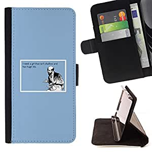 DEVIL CASE - FOR HTC Desire 820 - Shallow Girl Quote Funny Big Tits Man Love Life - Style PU Leather Case Wallet Flip Stand Flap Closure Cover