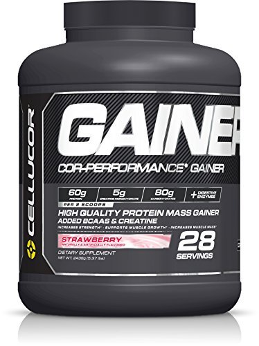 Cellucor Cor-Performance 28 Servings Mass Gainer Protein Powder Supplement, Strawberry, 2436 Gram