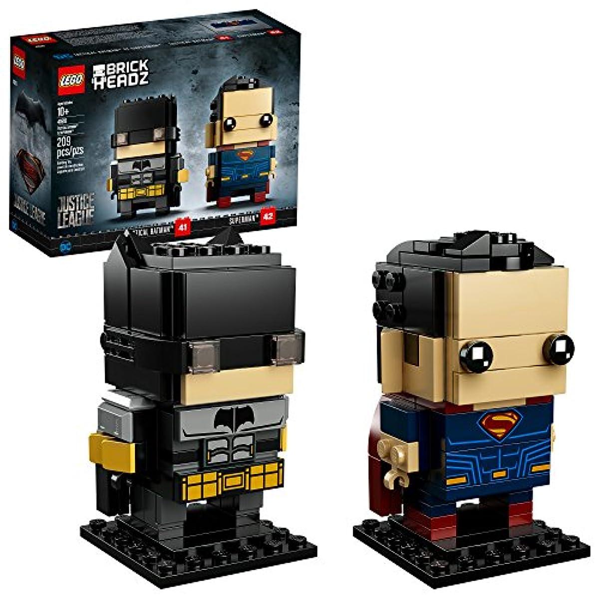 [해외] LEGO BRICKHEADZ TACTICAL BATMAN & SUPERMAN 41610 BUILDING KIT (209 PIECE), MULTI